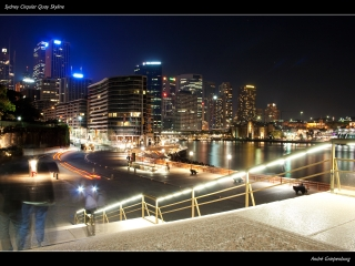 Sydney Cirqular Quay Skyline - Wallpaper