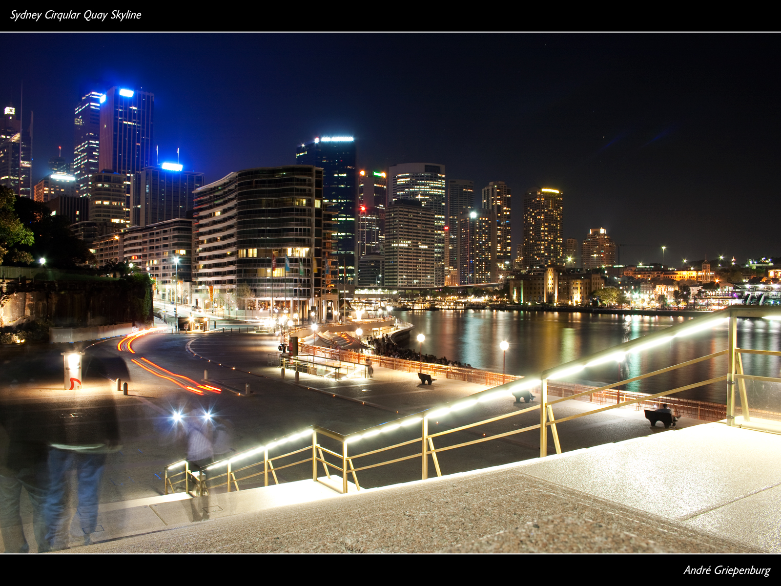 Sydney Cirqular Quay Skyline - Wallpaper
